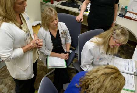 Dr. Alice Rhoton-Vlasak, a physician, and two nurses, Sue Degennaro and Melinda Bestland.